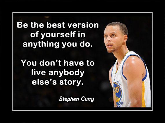 Basketball Motivation Poster Stephen Curry Golden by ArleyArt