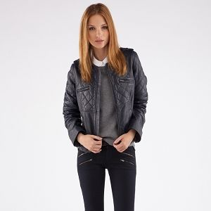 Padded Biker Jacket | Coats and jackets | Comptoir des Cotonniers