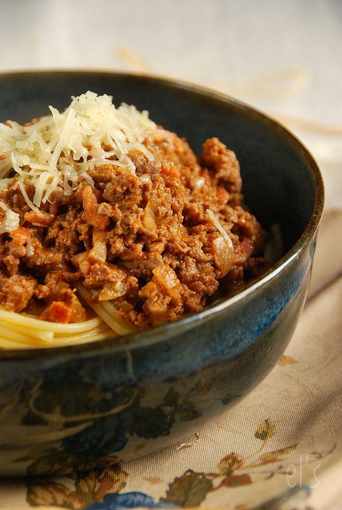 Spaghetti bolognaise de ma mamie