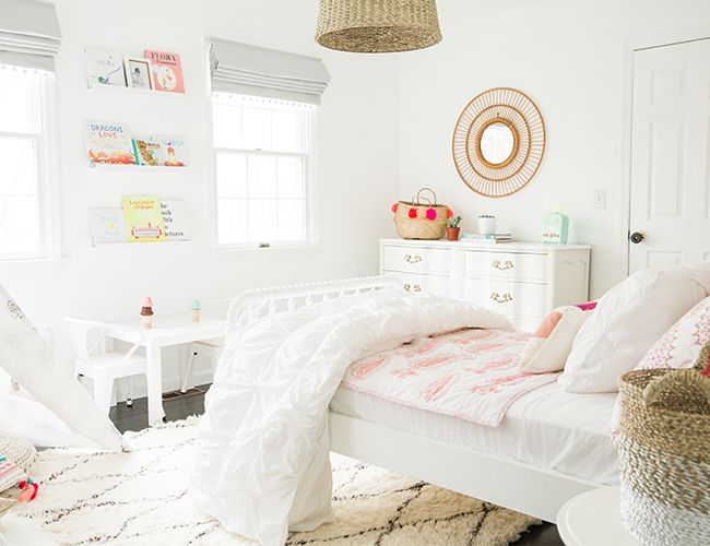 A Bright White & Pink Little Girl Bedroom - Inspired by This