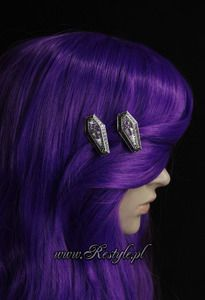 """""""COFFIN CHESTS"""" hairclips, pair of gothic, funeral hair pins"""