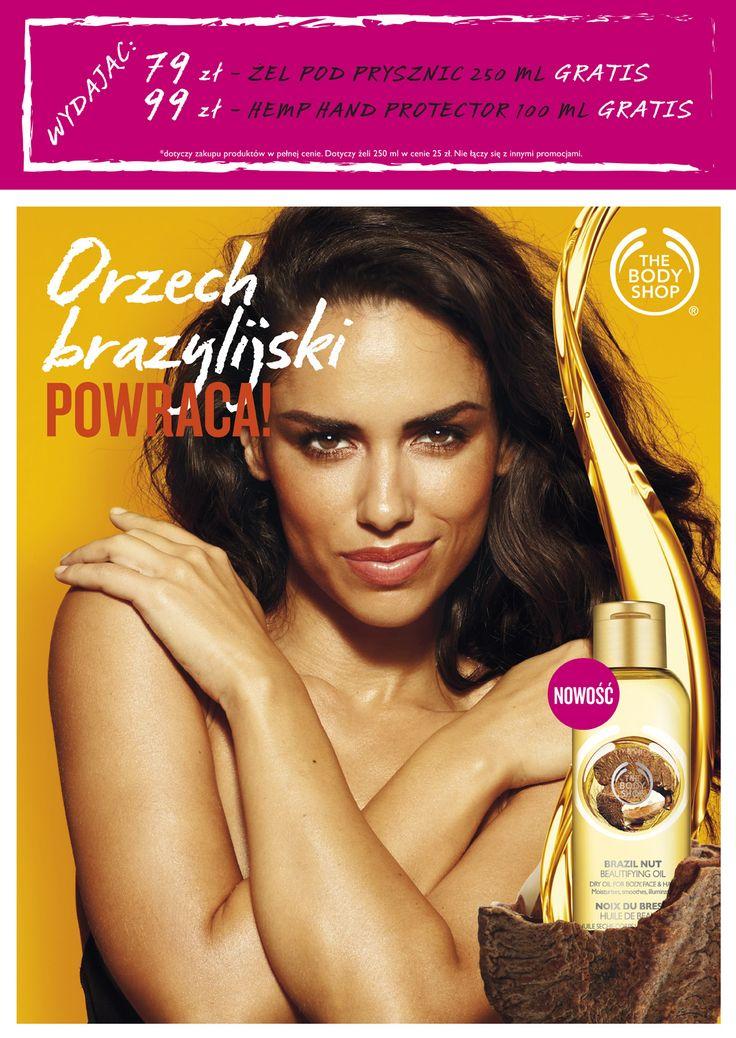 Powrót brazylijskiego orzecha do The Body Shop. Poznaj moc egzotycznego olejku!