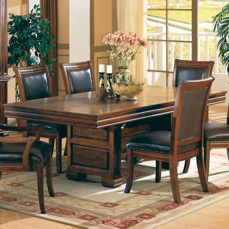 Westminster Double Pedestal Dining Table263 best Wining   Dining at it s Finest images on Pinterest  . Pineapple Pedestal Dining Table And Chairs. Home Design Ideas