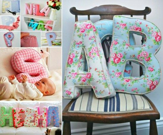 Alphabet Letter Pillows How To Make Them                                                                                                                                                                                 More