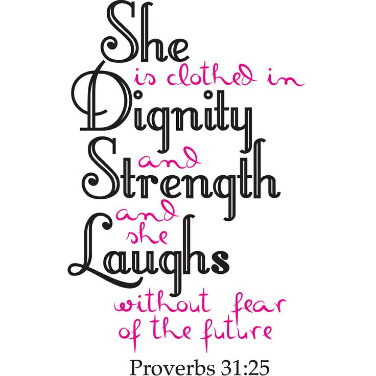 Proverbs 31:25 Christian Home D�cor   She is clothed in strength