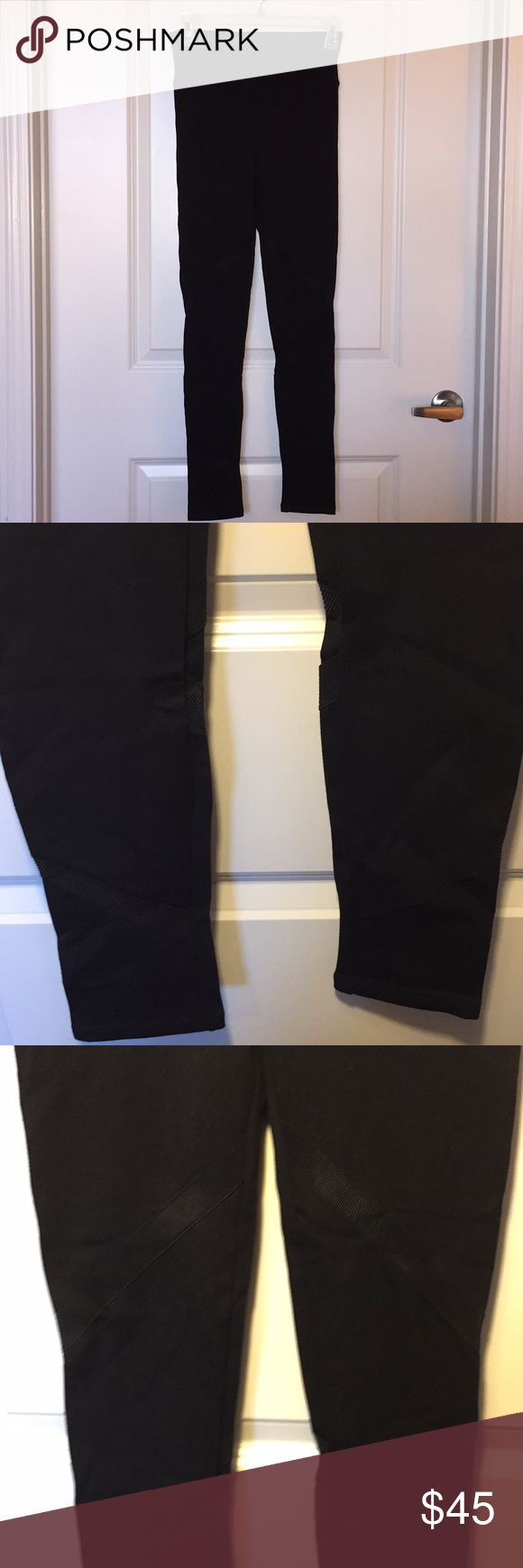 Spanx leggings Spanx leggings never released in stores! Never worn, black, size medium. Cute ribbed fabric detail  around each leg. Would look great with a cute top or with lounge wear. SPANX Pants Leggings
