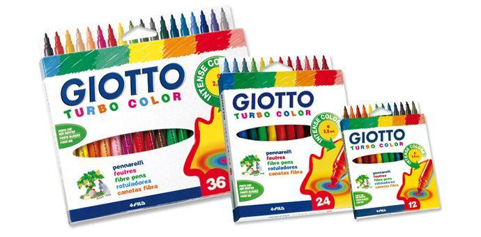 Marcadores Giotto Turbo Color (12 cores)