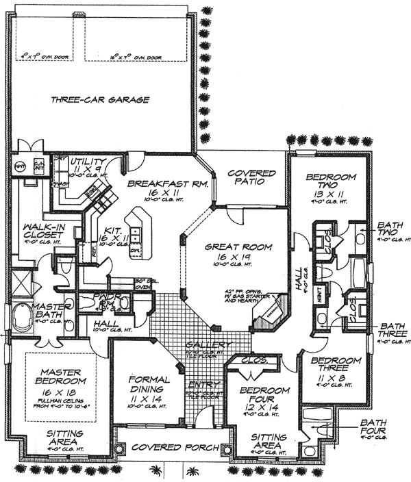 7 best images about jack and jill layouts on pinterest for Home plans with jack and jill bathroom