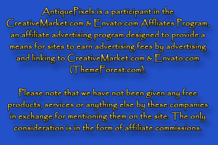 Affiliate Earnings Disclaimer for AntiquePixls