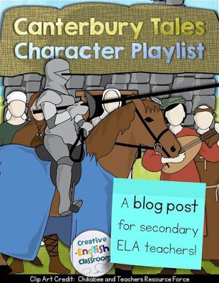 Use familiar songs to mix up a potentially dry reading of the Canterbury Tales General Prologue!  (The Franklin's song is my favorite, haha!)