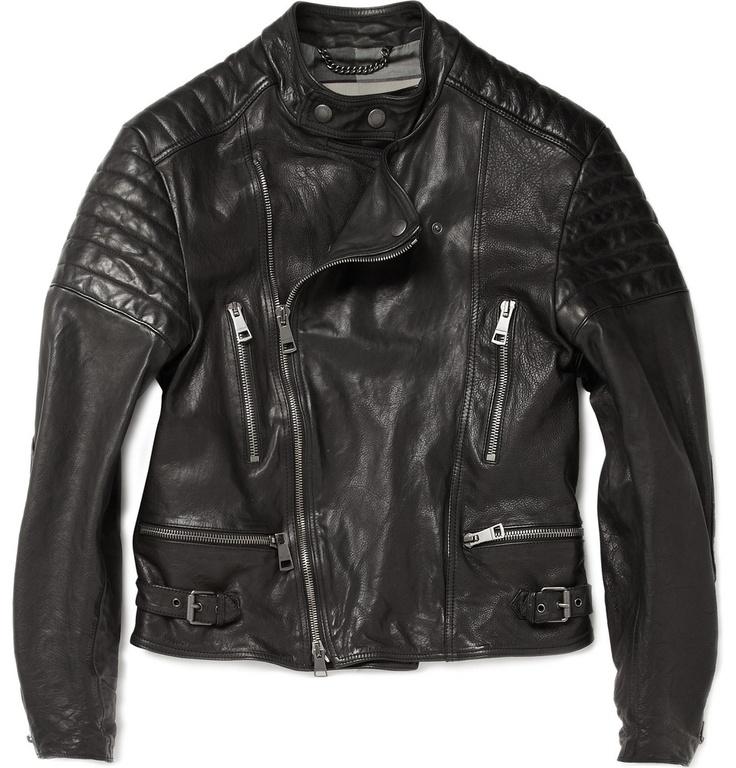 Burberry BritLindbergh Leather Biker Jacket|MR PORTER