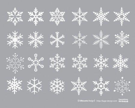snow2 450x358 無料で使える!高品位ベクター素材。雪の結晶コレクション(商用可・AI・EPS・PDF)   Free Style
