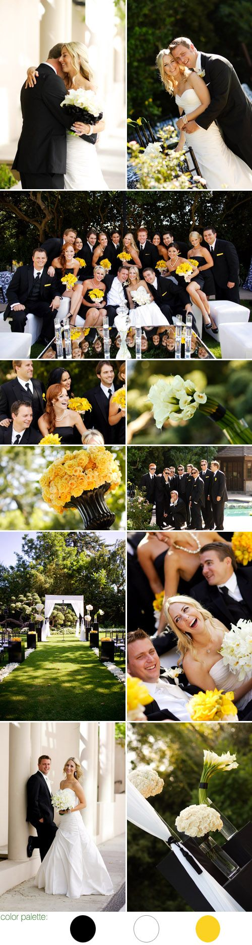 whimsical yellow, black and white wedding produced and designed by Kristin Banta Events, photos by Memories by Michael
