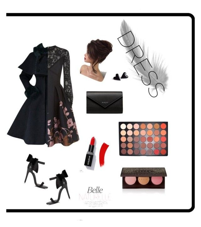 """""""Black in all kind of Black"""" by seventynineseconds on Polyvore featuring Elie Saab, Miss Selfridge, Balenciaga, Morphe and Becca"""