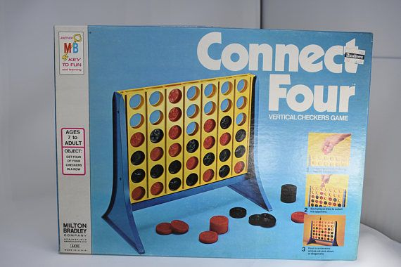 Connect Four Game Vertical Checkers Game Milton Bradley