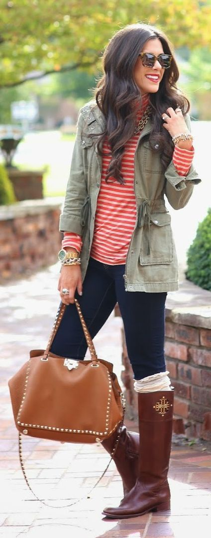 Coral And Cream Striped Jersey by The Sweetest Thing