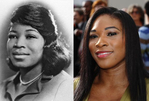 Betty Shabazz (wife of Malcolm X) - Serena Williams have a strong resemblance