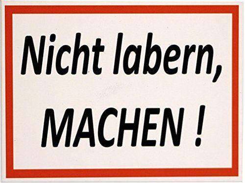 """Kühlschrank Magnet 6x8 cm """" Nicht labern, MACHEN """" Retro Nostalgie Tin Sign EMAG141: Amazon.de: Küche & Haushalt"""
