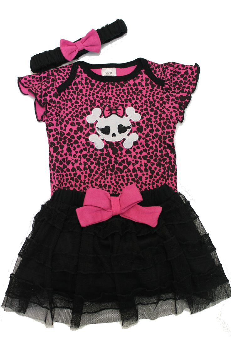 Skull-Baby-Clothes-Punk-Baby-Clothes-Outfit-Cool-Baby-Clothes-Cute-Baby-Clothes-Skirt-Vest-Grow-Girls