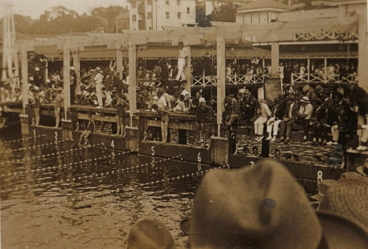 Manly harbour swimming pool. Manly, NSW. ca.1920's. v@e.
