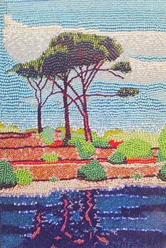le paysage de grece mosaique le petit point