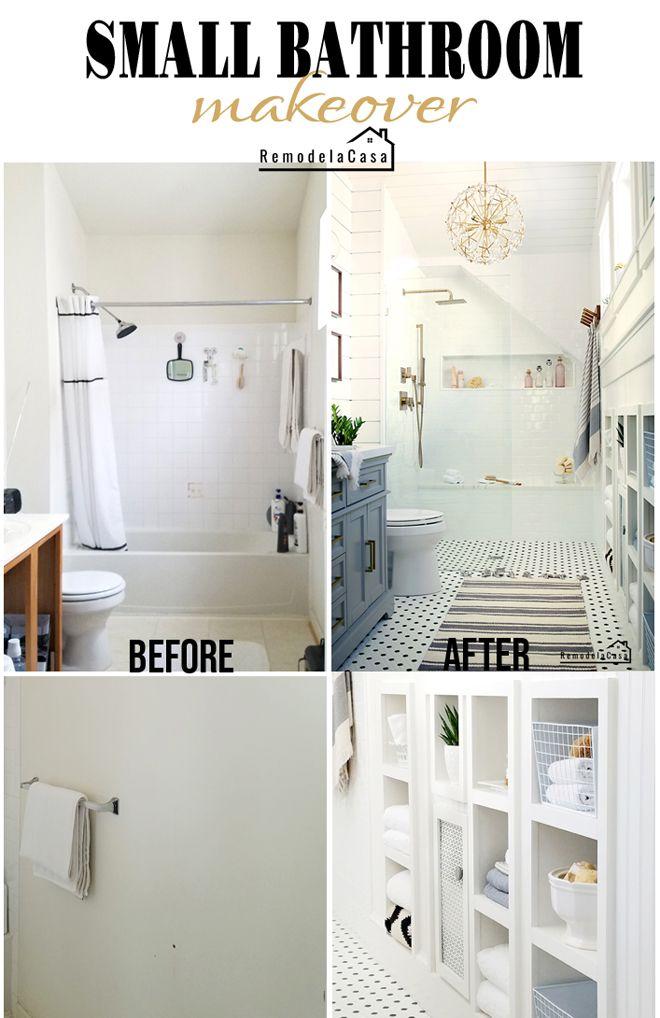 . Small Master Bathroom   The Reveal in 2019   Bathroom   Bathroom