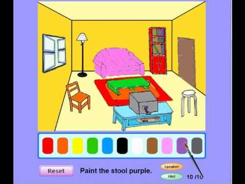 Preschool Games – Paint the Picture (Living Room)  – preschool games online   Software Tutorials Windows & Linux , Reviews videos and Downloads