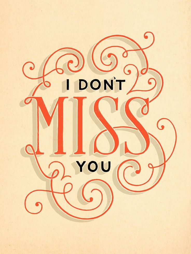 """I don't miss you"" by Lauren Hom. (via dailydishonesty)"
