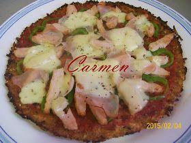 Recetas sanas de Carmen: PIZZA CON BASE DE COLIFLOR