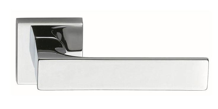 poignées de porte design modèle tuke finition chromé brillant et chromé mat