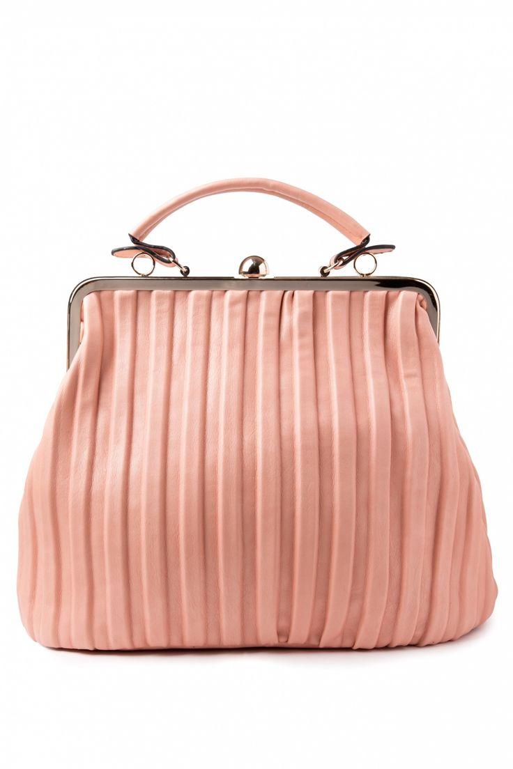 Milan - 1950s Madame DeeDee Oversized Handbag in Blush Pink