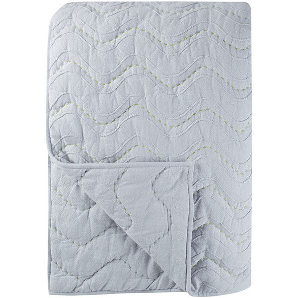 Designers Guild Aurelia Bedspread ($236) ❤ liked on Polyvore featuring home, bed & bath, bedding, bedspreads, grey, quilted bedspreads, gray bedspread, quilted bedding, designers guild bedding and grey bedspread