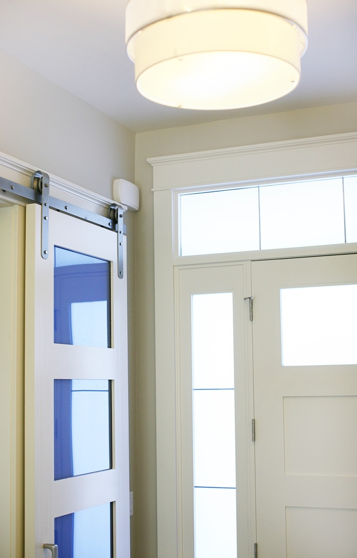 85 best barn doors images on pinterest sliding doors interior not sure if i like the blue glass but i do like the narrow sliding door eventelaan Image collections