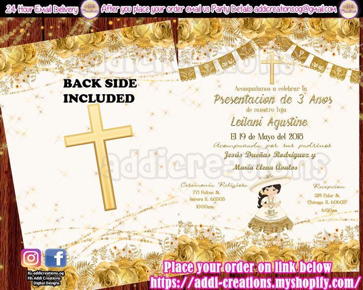 invitaciones de presentacion
