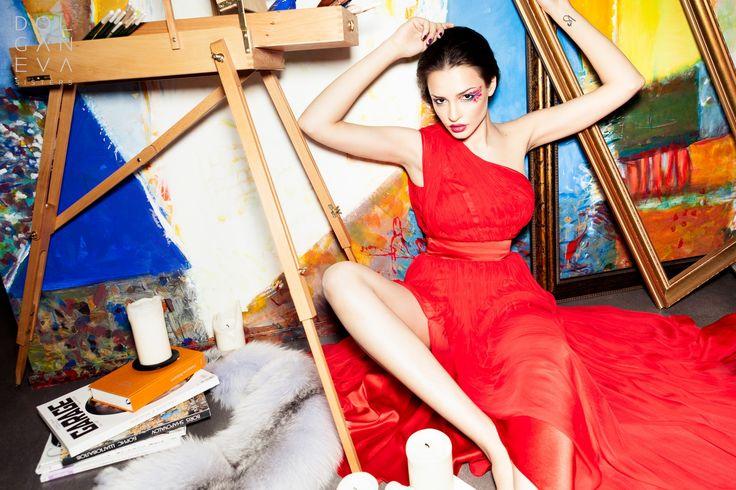 Платье  шелк / шелк-шифон. Silk dress / silk-chiffon.