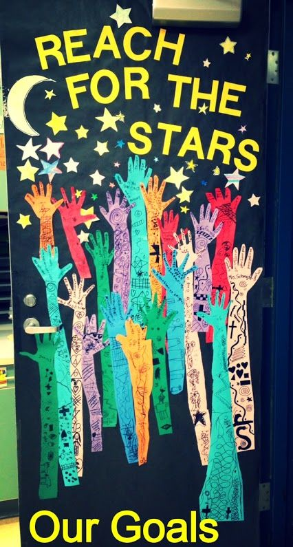 "Love this awesome cooperative art project for kids, ""Reach for the stars!"""