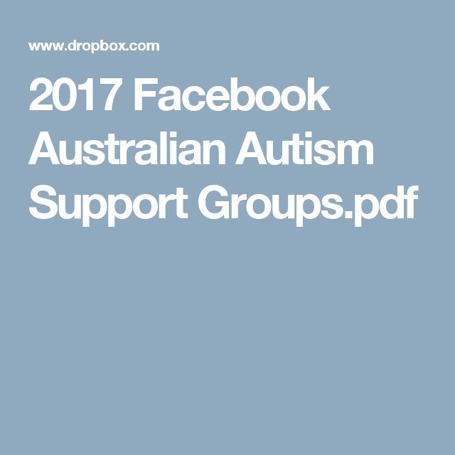 2017 Facebook Australian Autism Support Groups.pdf