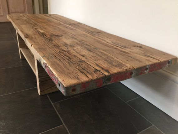 reclaimed wood table media stand tv stand scaffold board