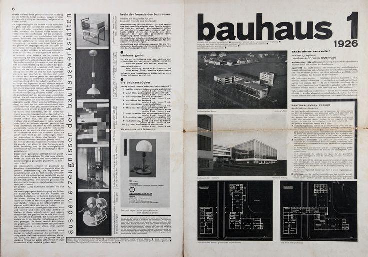 bauhaus 1 zeitschrift schriftleitung walter gropius und laszlo moholy nagy jahrgang i heft 1. Black Bedroom Furniture Sets. Home Design Ideas