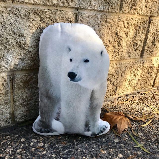 Polar Bear Body Pillow White