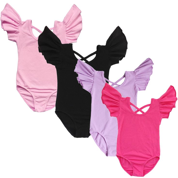 Toddler and Teenagers Ballet Leotards for Girls Ballet Dance Leotards Gymnastic Leotard Dance Wear with Fold Wholesale
