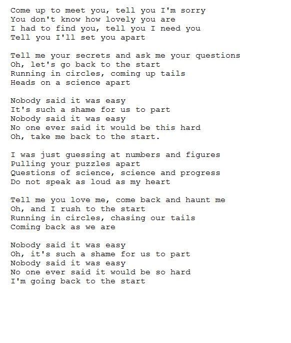Lyrics of scientist