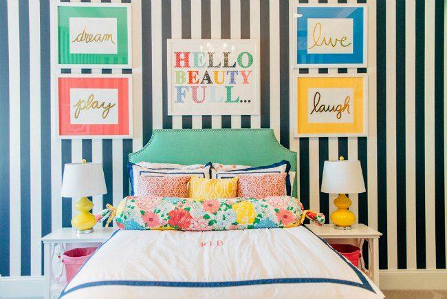 Dormitorio juvenil a todo color