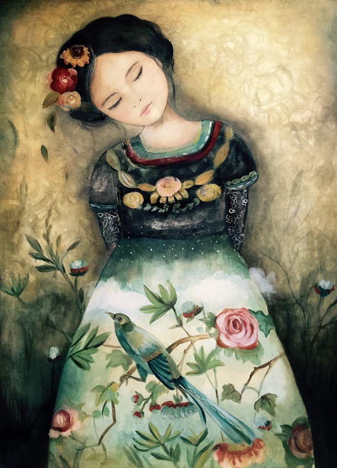Claudia Tremblay kanadai illusztrátor 12éven át élt együtt Guatemalában a maja népcsoporthoz nőkkel, s minden igyekezetével azon volt, hogy megörökítse a különleges nép, életforma lényegét.