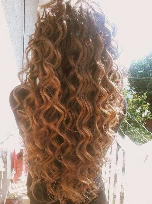 Love the loose curls | Long hair perm, Hair styles, Curly