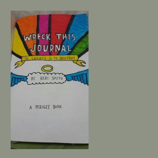 Wreck this journal (WTJ) .