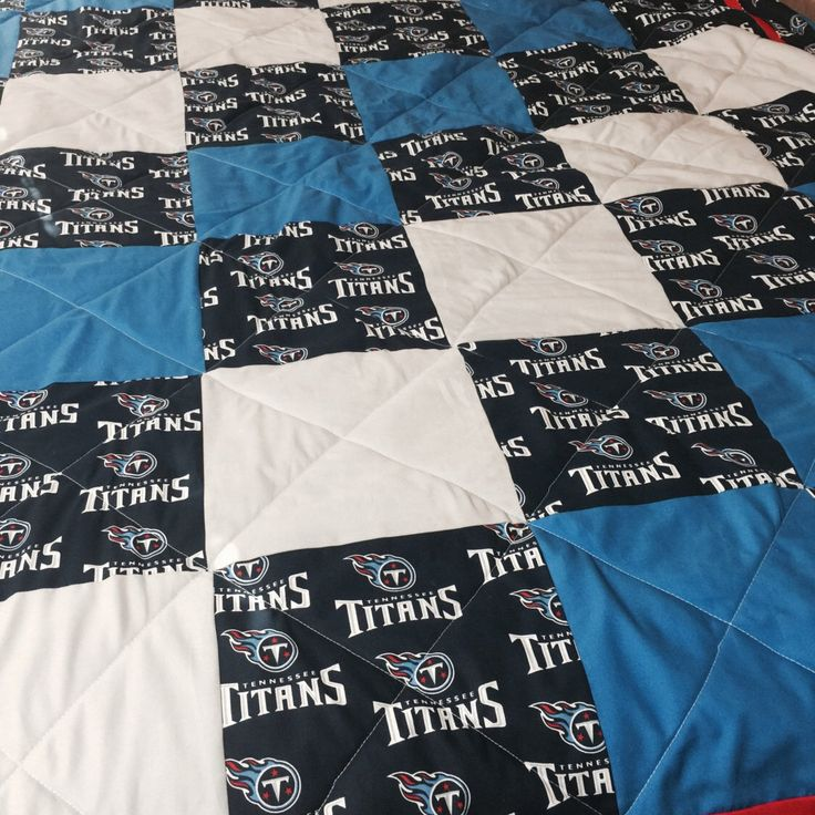 A personal favorite from my Etsy shop https://www.etsy.com/listing/454912844/tennessee-titans-quilt-twin-size