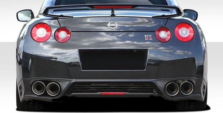 2009-2015 Nissan GT-R R35 Duraflex OEM Facelift Conversion Rear Diffuser - 1 Piece