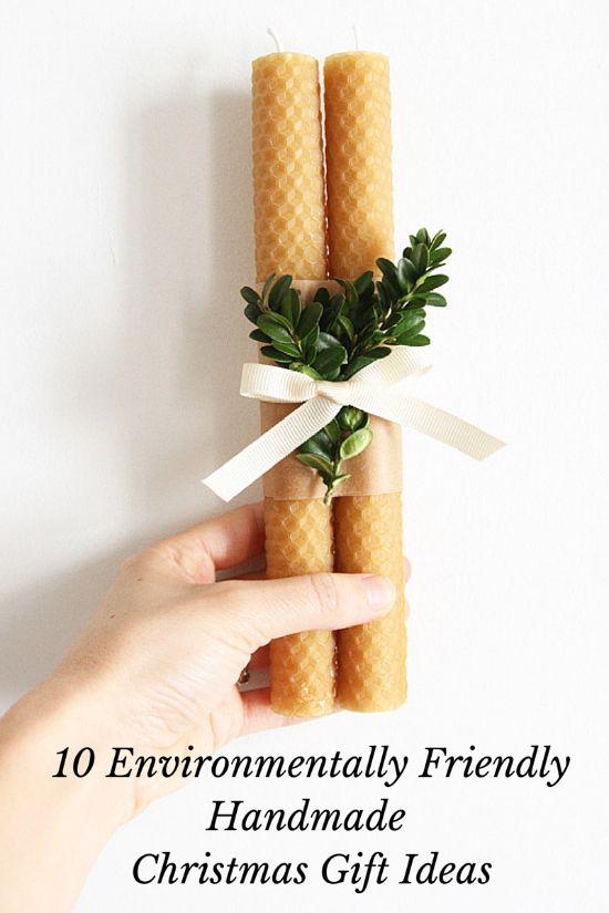 10 beautiful and easy handmade eco-friendly Christmas gift ideas.  Click through for the full tutorials/DIYs.