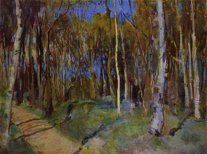 Printemps. Martyshkino, huile sur toile de Konstantin Somov (1869-1939, Russia)